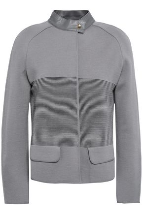 GIORGIO ARMANI Paneled wool jacket