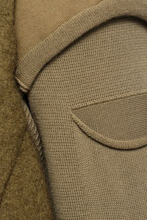 RICK OWENS Paneled shell and wool-felt jacket