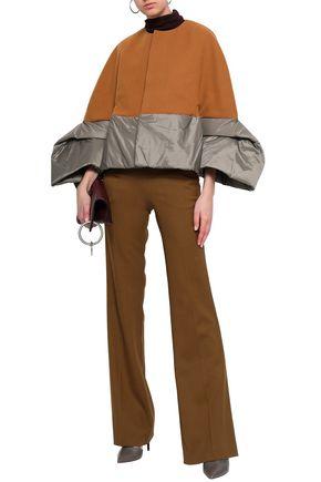 RICK OWENS Wool-blend felt and shell-paneled coat