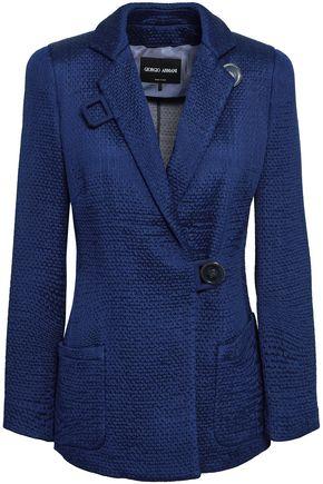 GIORGIO ARMANI Double-breasted jacquard blazer