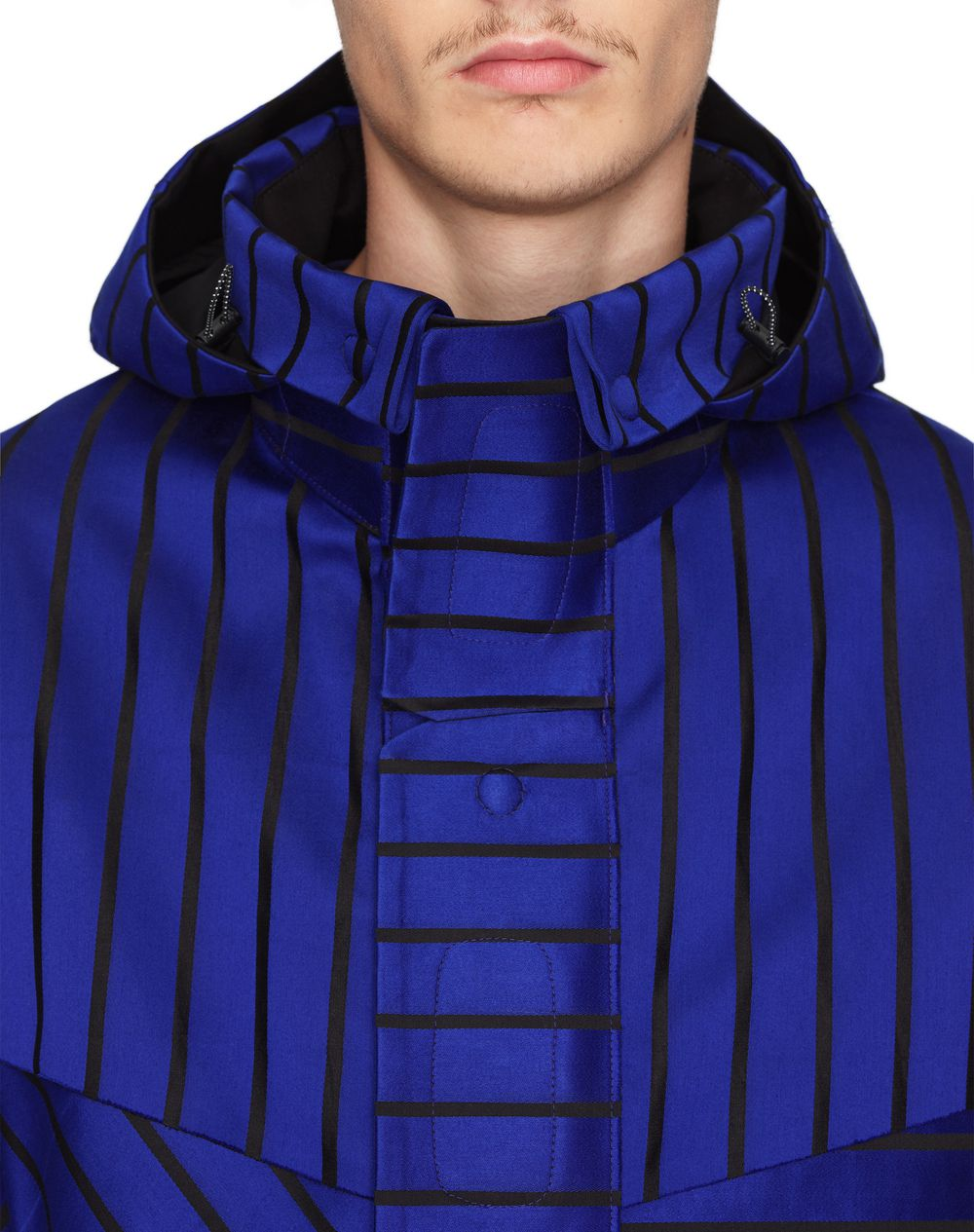 OVERSIZED STRIPED PARKA    - Lanvin