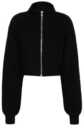 RICK OWENS Cropped cashmere bomber jacket