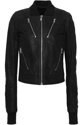 RICK OWENS Leather bomber jacket
