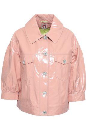 SHRIMPS Crystal-embellished vinyl jacket