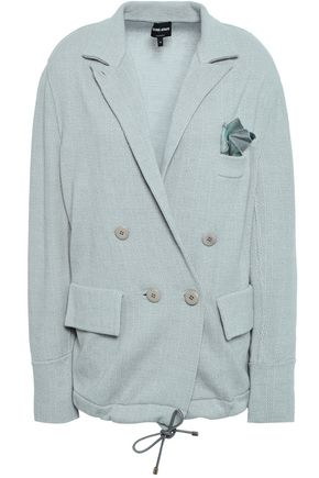GIORGIO ARMANI Double-breasted wool and cashmere-blend jacquard blazer