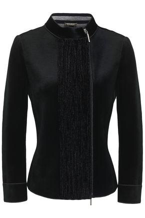 GIORGIO ARMANI Chenille-paneled velvet jacket