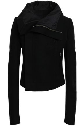 RICK OWENS Wool-blend felt biker jacket