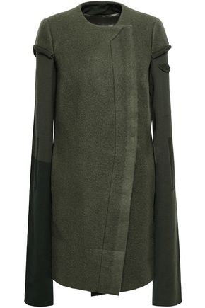 RICK OWENS Paneled wool-felt coat