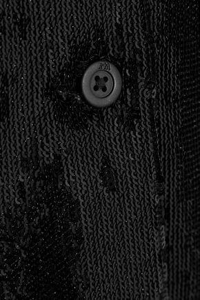 RTA Yvonne sequined stretch-knit jacket