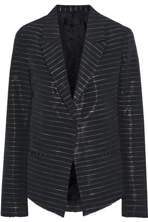 RTA Metallic striped cotton-blend blazer