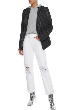 RTA Metallic striped cotton-blend blazer