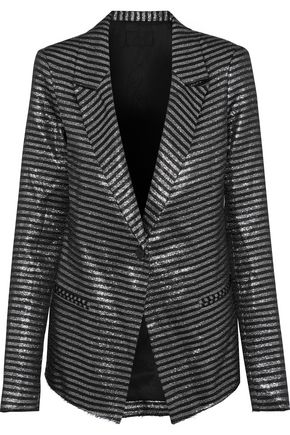 RTA Iggy striped lamé blazer