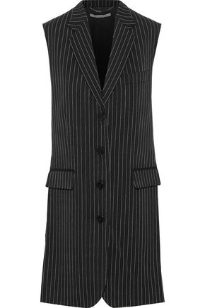 STELLA McCARTNEY Sadie pinstriped wool-blend vest