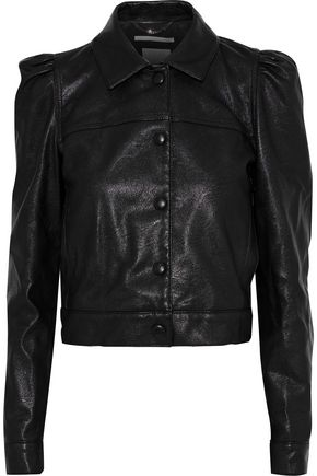 STELLA McCARTNEY Cropped faux leather jacket