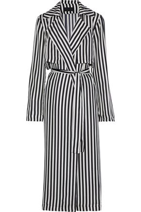 RTA Karina striped silk trench coat