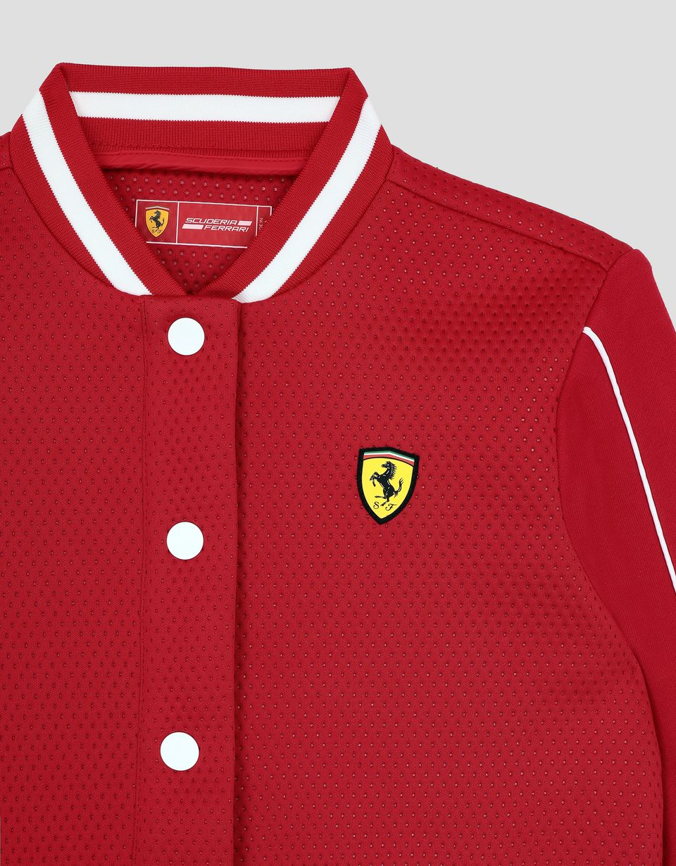 Scuderia Ferrari Online Store - Girls' bomber with French terry sleeves - Bombers & Track Jackets