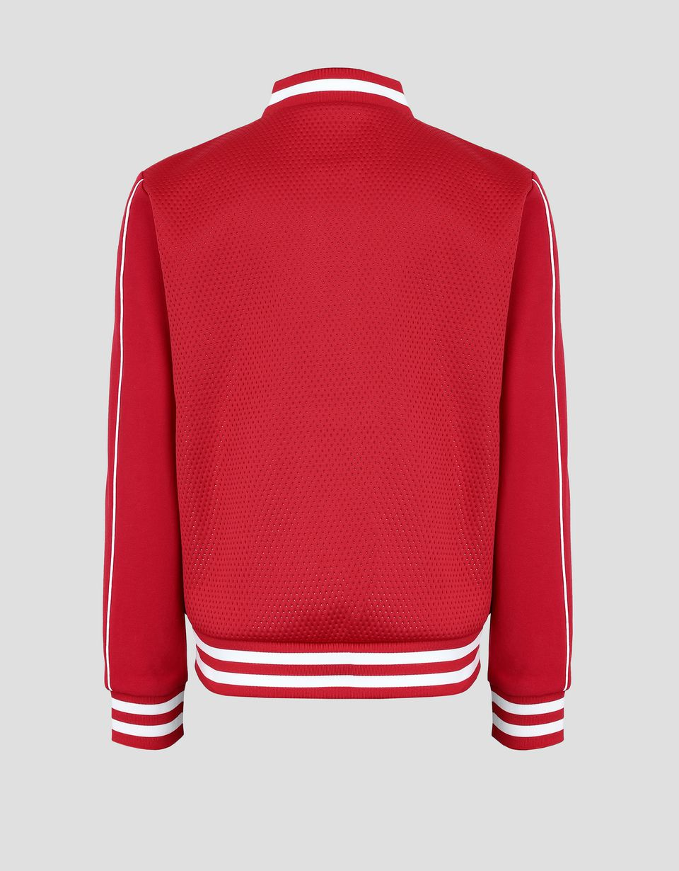 Scuderia Ferrari Online Store - Girl's bomber jacket with French Terry sleeves - Bombers & Track Jackets