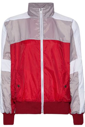 EACH X OTHER Printed color-block shell track jacket