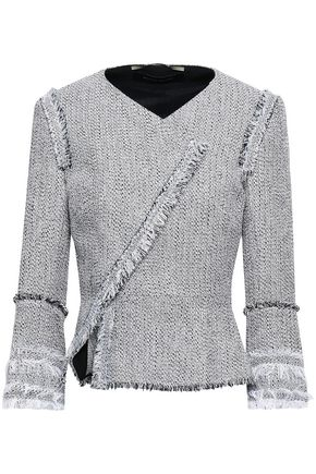 ROLAND MOURET Frayed cotton-blend tweed jacket