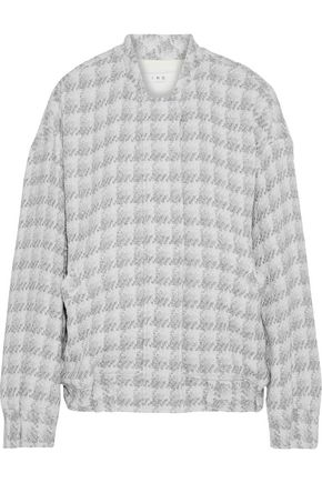 IRO Metallic houndstooth bouclé jacket