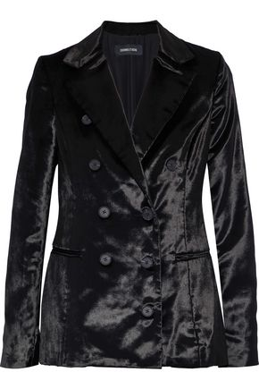 CUSHNIE Double-breasted velvet blazer