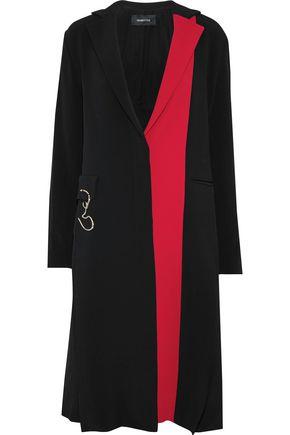 CUSHNIE Embellished two-tone crepe coat