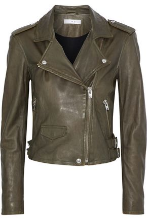 IRO Ashville brushed-leather biker jacket