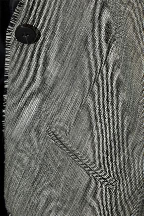ZIMMERMANN Folly Sovereign frayed wool-tweed blazer