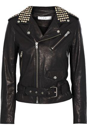 IRO Nova studded leather biker jacket
