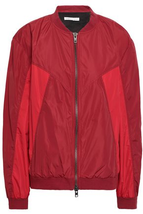 REBECCA MINKOFF Darma paneled shell bomber jacket