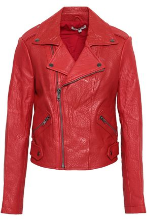 REBECCA MINKOFF Wolf textured-leather biker jacket