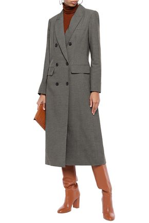 REBECCA MINKOFF Turner double-breasted houndstooth woven coat