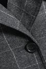 EQUIPMENT Double-breasted check wool-blend trench coat