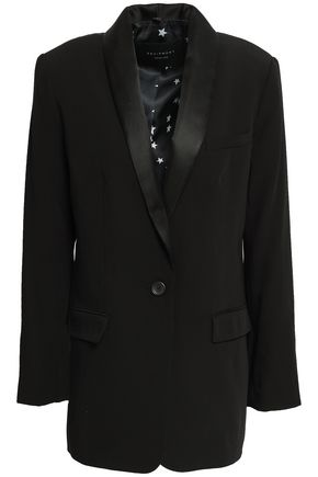 EQUIPMENT Satin-trimmed twill blazer
