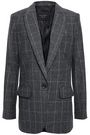 EQUIPMENT James checked wool-blend twill blazer