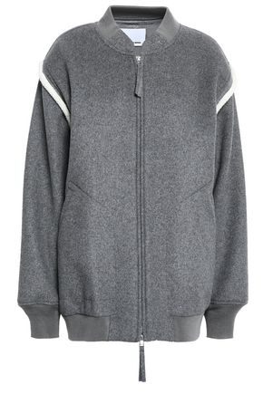 ALEXANDERWANG.T Wool-blend fleece bomber jacket