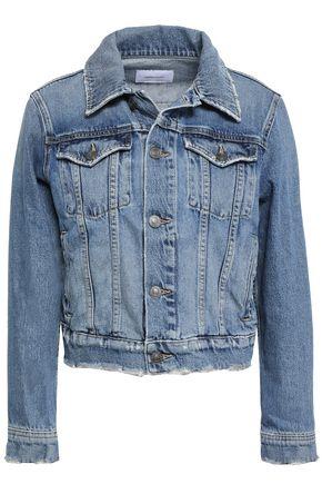 CURRENT/ELLIOTT The Baby Trucker Grassland denim jacket