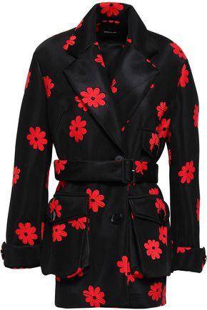 SIMONE ROCHA Floral-design embroidered woven coat