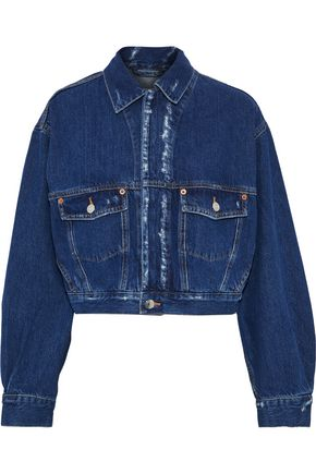 IRO Duere cropped distressed denim jacket
