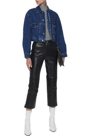 IRO Duere cropped distressed denim jacket