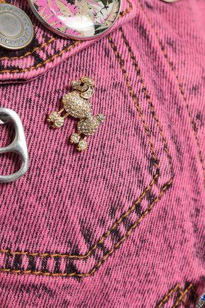MARC JACOBS Embellished cropped denim jacket