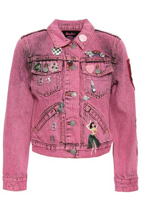 MARC JACOBS Embellished cropped denim jacket