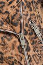 W118 by WALTER BAKER Leopard-print coated leather biker jacket