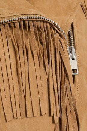 W118 by WALTER BAKER Fringed suede biker jacket