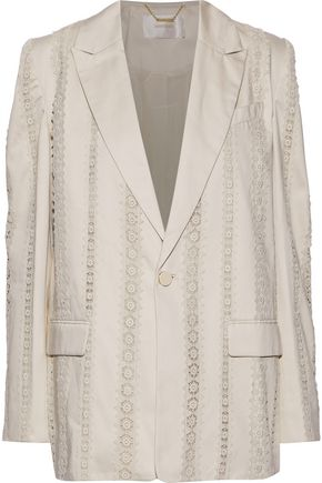 ZIMMERMANN Crochet-paneled cotton blazer