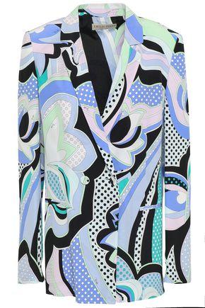 EMILIO PUCCI Printed silk crepe de chine blazer