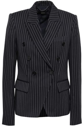 STELLA McCARTNEY Double-breasted pinstripe stretch-wool blazer
