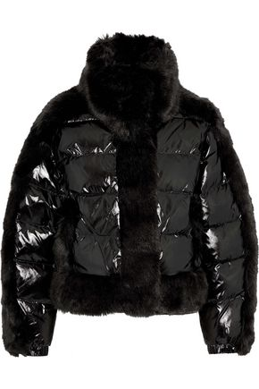OPENING CEREMONY Daydreamer faux fur-trimmed quilted coated-shell down jacket