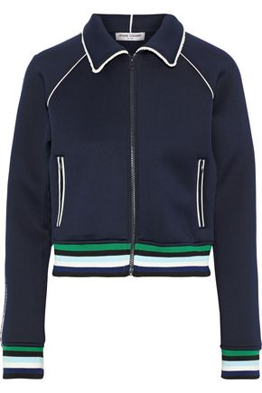 Opening Ceremony Jackets Ruffle-trimmed neoprene track jacket