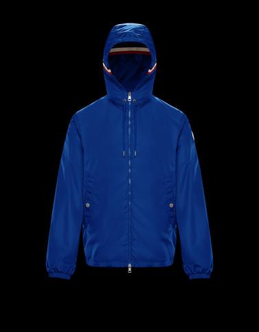 GRIMPEURS Bright blue Windbreakers Man